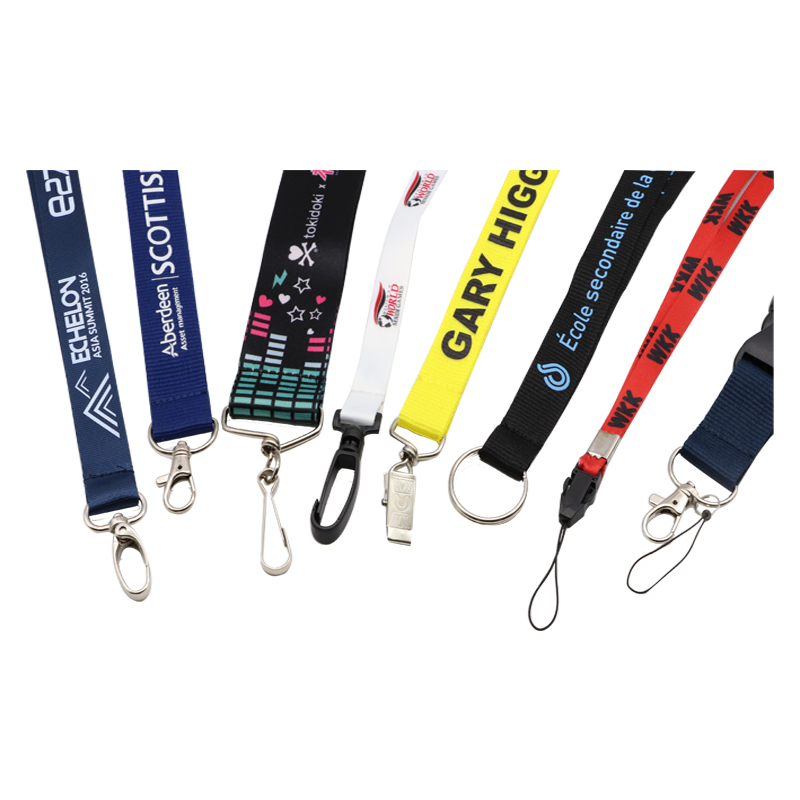 Free Sample Custom Design Dye Sublimation Printing Carabiner Tool Lanyard With Plastic Buckle
