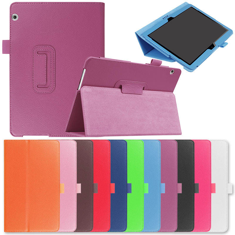 For Huawei Media Pad MediaPad T3 10 AGS-WO9 AGS-L09 9.6 inch Honor Play Pad 2 Cases Leather Silk Texture Tablet Cover