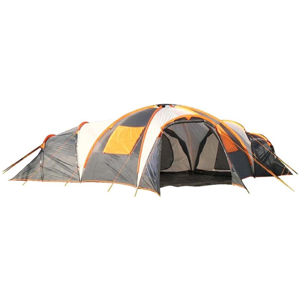 8 persoon 3 Kamers Grote Waterdichte Luxe Camping Outdoor Familie Tent