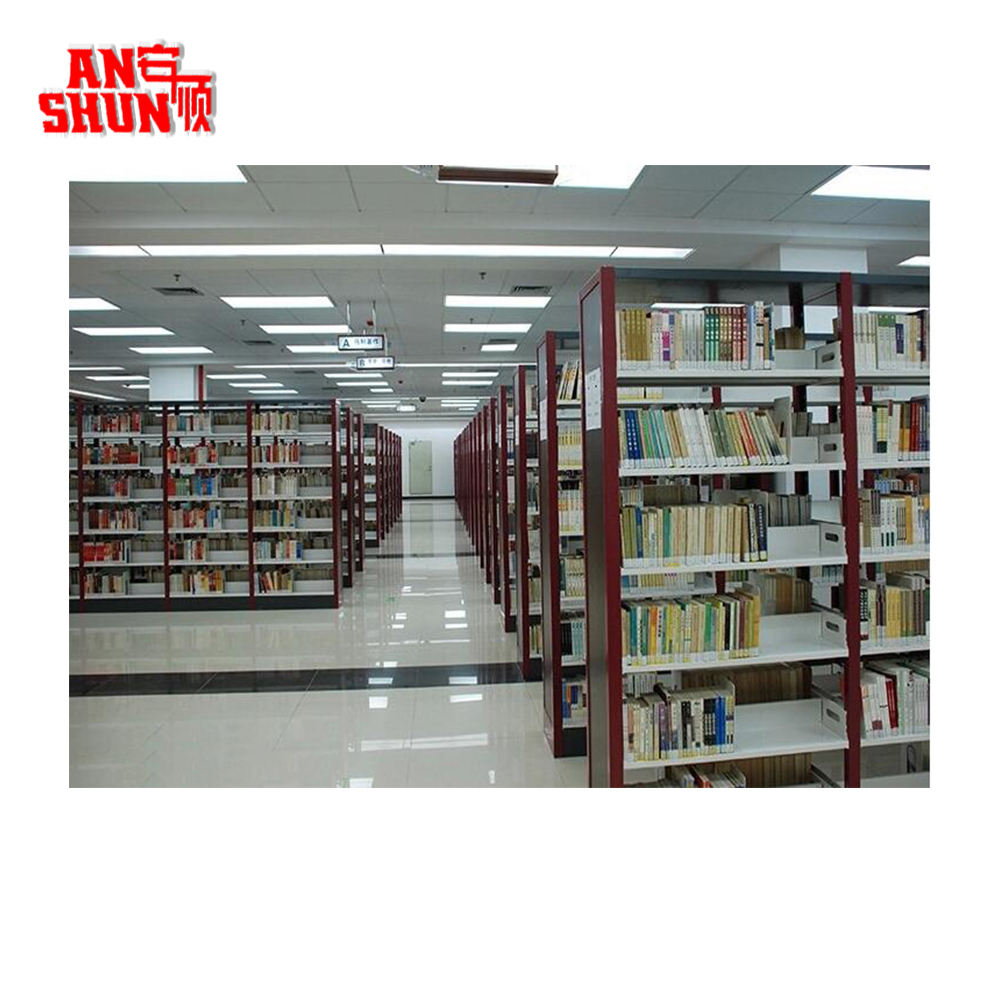 FAS-064 modern School used book shelving Metal Book shelves for library
