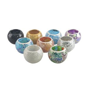 mosaic glass candle holder for home decoration candle glass jar