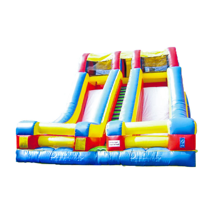 2019 China factory Cheap Hot sale kids&adults outdoor playground inflatable double slide for playground