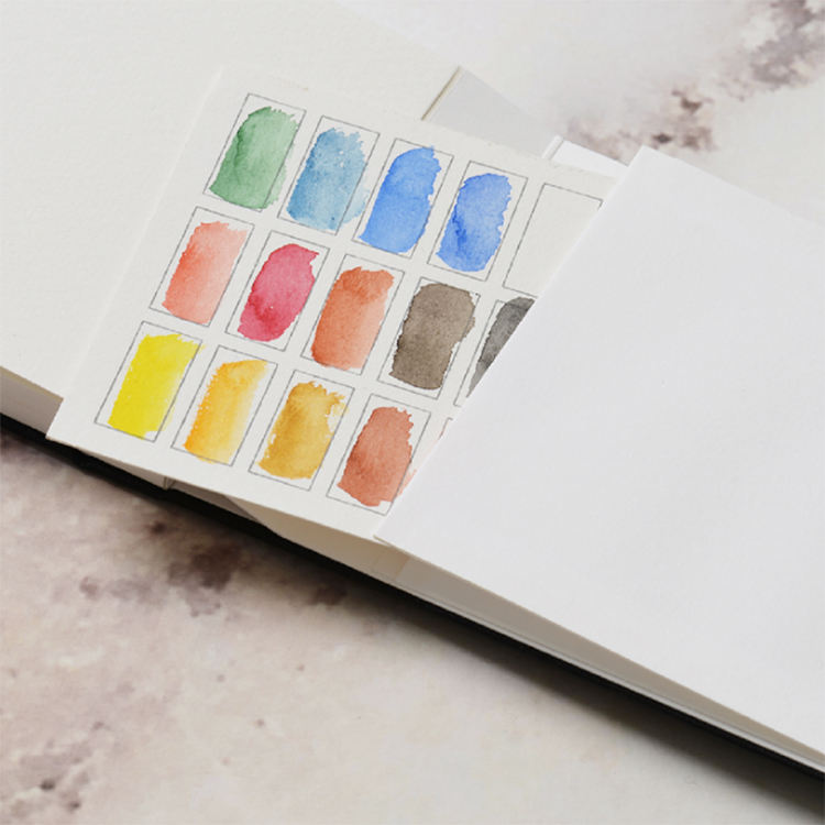 Mini multifunktionale spezielle art stoff aquarell notebook