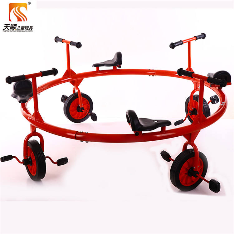 preschool education 4 seat kids pedal bike with high quality wholesale