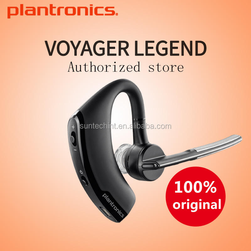 Plantronics Headset Nirkabel Bluetooth, Trantronics Legenda dengan Casing Pengisi Daya Tepi/5200 Speaker Biru