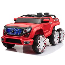 Six-wheel 4 drive children electric car / kids four wheel with remote control off-road ride on toys car