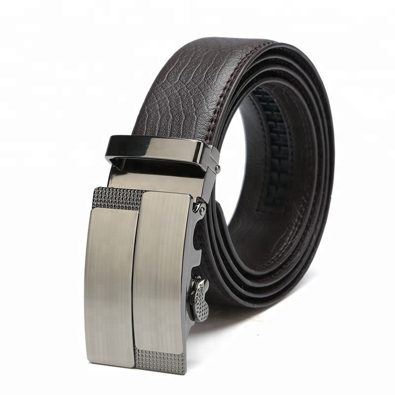 High Quality Men Leather Belts Automatic Buckle Belt