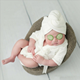 Professional manufacture Factory flannel soft touch feel bathing set photo for 0-6 months newborn baby photography props