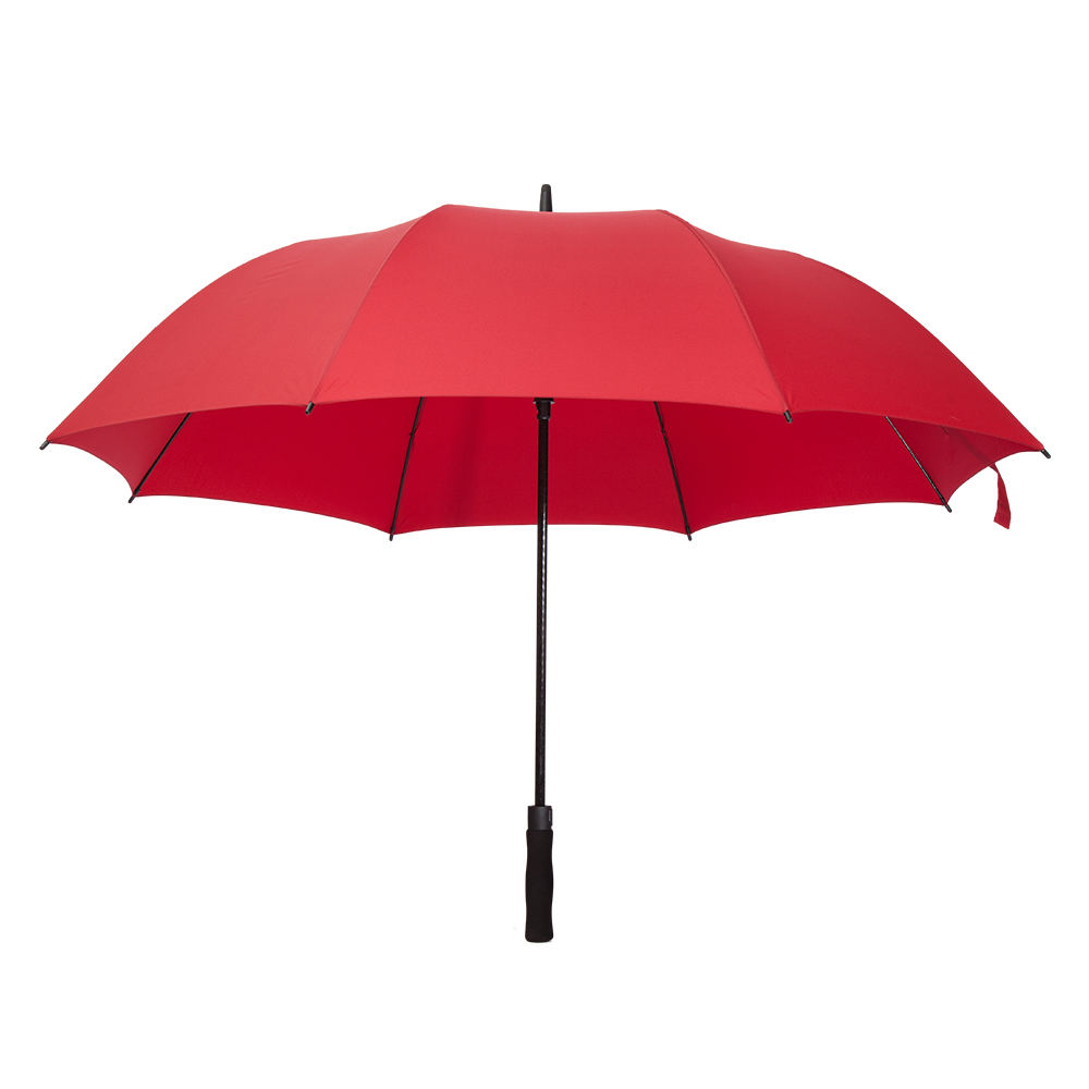 25inch auto open wine red high class windproof single layer golf umbrella