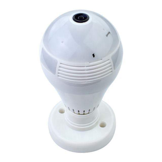 Wholesales 2mp Wifi light bulb camera wifi smart camera v380 360 Degree cctv led light bulb with alarm and two way audio