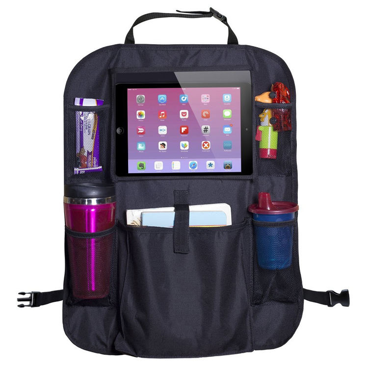 Luxe Autostoel protector Back set Organizer accessoires tas met Tablet Holder Pocket