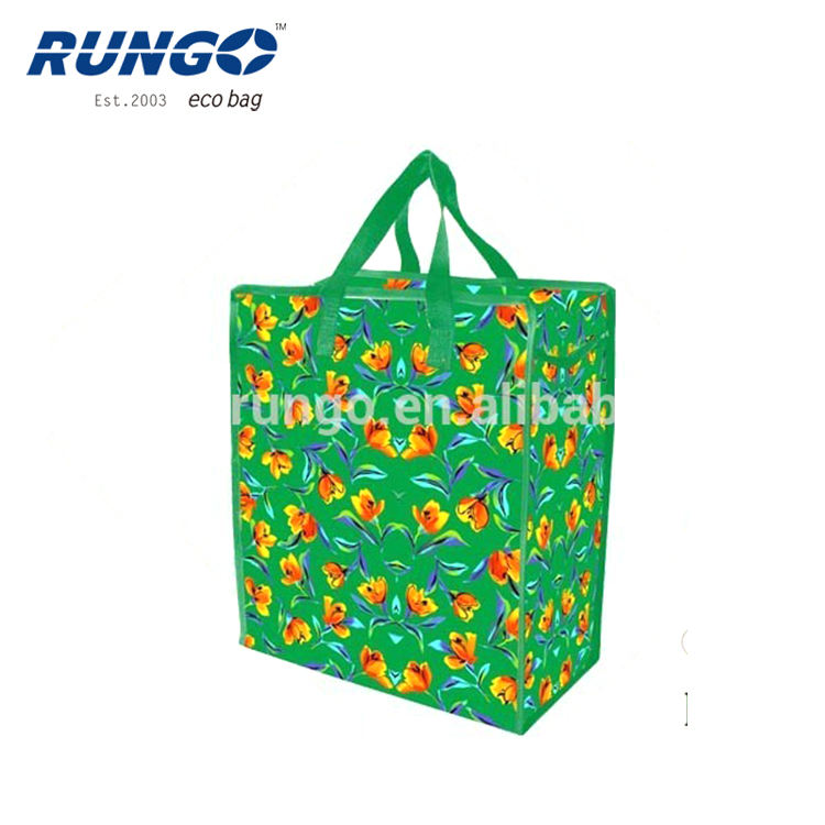 African style Ghana Must Go Custom Printing Logo Label China Polypropylene Shopping Laminated Pp Woven zipper Bags