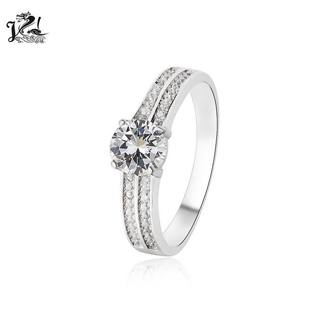 Nieuwe model sterling silver pave diamond Engagement ring voor vrouwen
