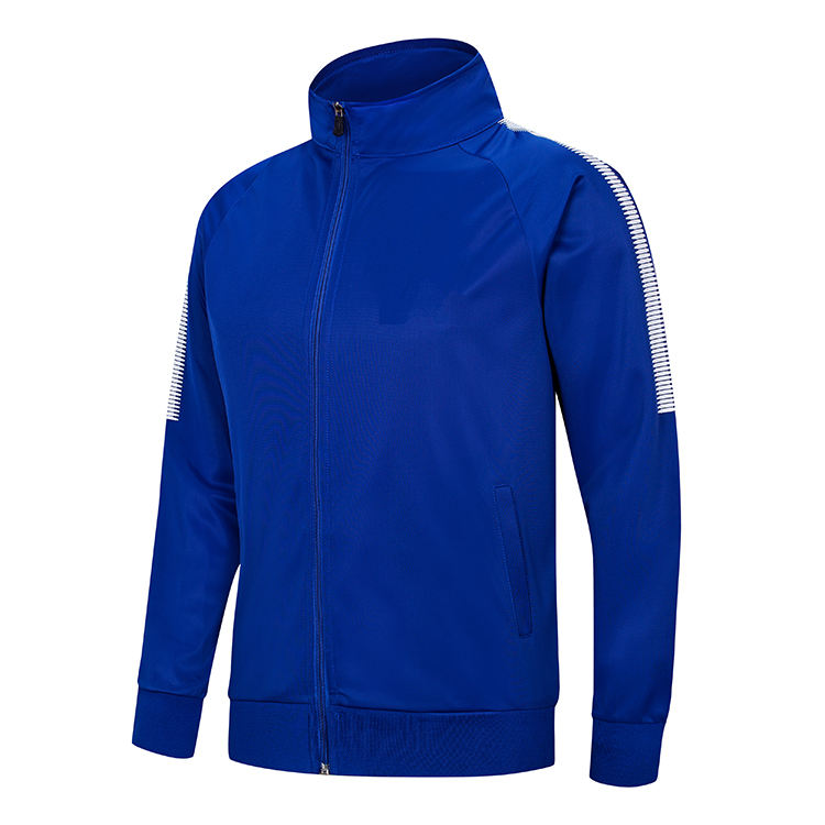 Bulk Wholesale Plus Size Bright Blue Sports Track Jacket /Unbranded Football Track Suit Tracksuit for Man