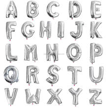 16inch DBCY Gloden alphabet letter balloons with happy birthday and wedding decorations