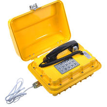 Waterproof explosion-proof telephone set for underground mine