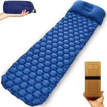 Camping Sleeping Mat- Lightweight air sleeping pad, Ultralight & Compact & Inflatable Air Mattress With Pillow