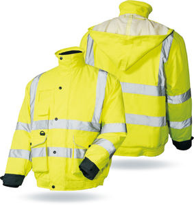 Hot sale manufacturer safety reflective bomber jacket with logo,sample free
