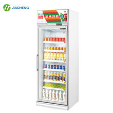 Convenience store beverage cooler single Glass Door Refrigerator And Freezer red bull soft drink display fridge