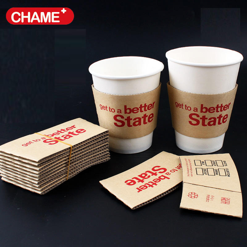 Paper Disposable 8/12/16oz Paperboard cup cover/cup sleeve