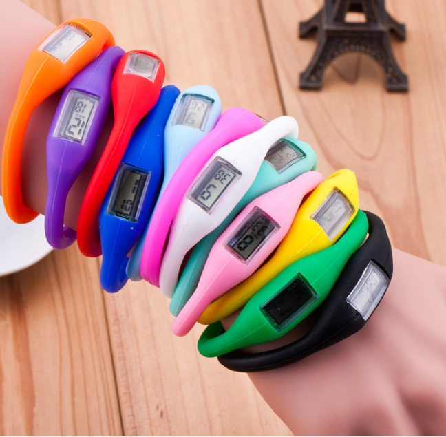 Healthy silicone bracelet engative ion sports digital watch