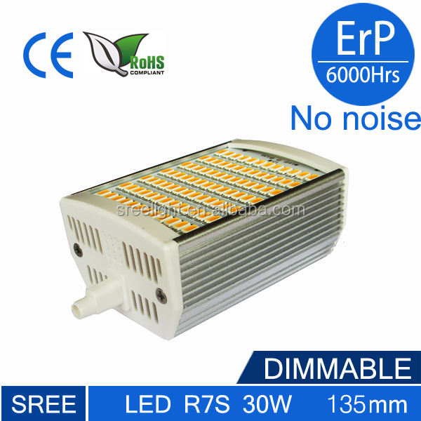118mm 180도 절약 에너지 dimmable 85-265v 새로운 LED r7s 30w