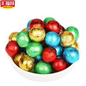 Colorful christmas center filled chocolate ball