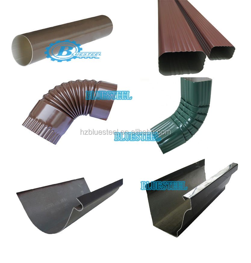 Portable Metal Sink Drain Downspout Elbow Seamless Gutter Forming Machine For Aluminum Copper Rain System