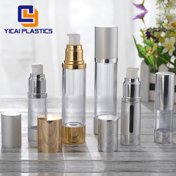 Пластиковые 15 мл 20 мл 30 мл 50 мл 80 мл 100 мл 120 мл безвоздушного косметические дозатор, насос бутылка оптовая продажа