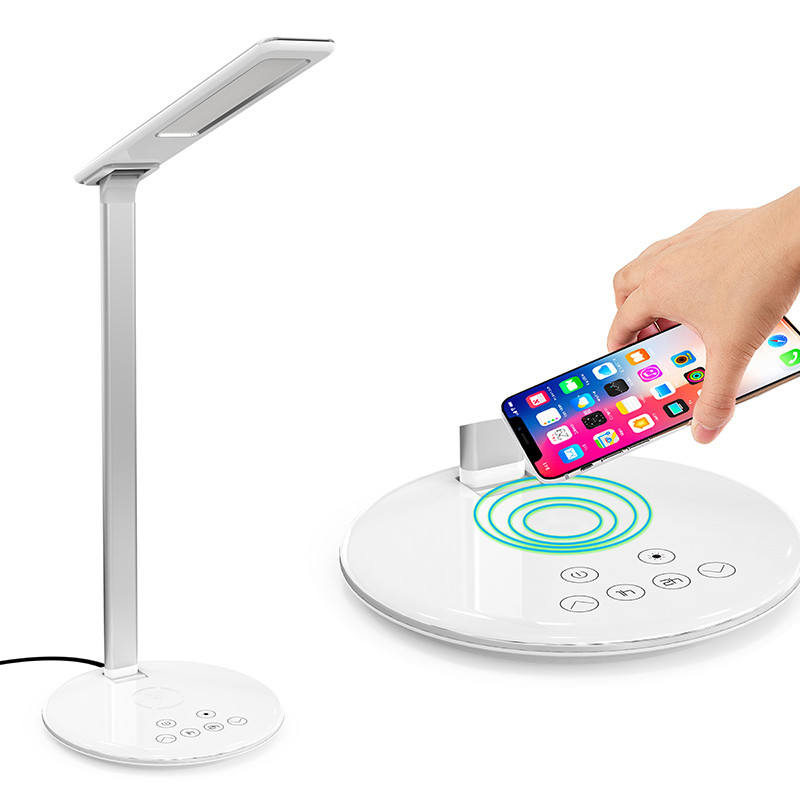 Led Table Lamp Wireless Charger Foldable Mobile Phone Usb Charging For Phone Led Desk Lamp With Qi Wireless Charger