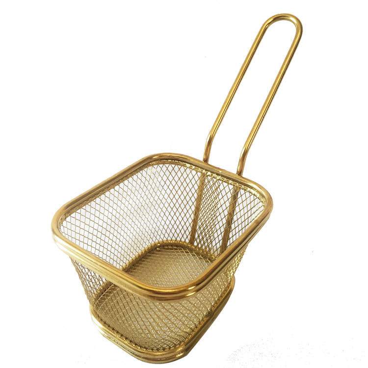 Stainless Steel 304 Dapur Memasak Wire Mesh Mini Fryer Basket