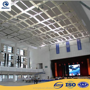 Indoor acoustical noise reduction ceiling tiles