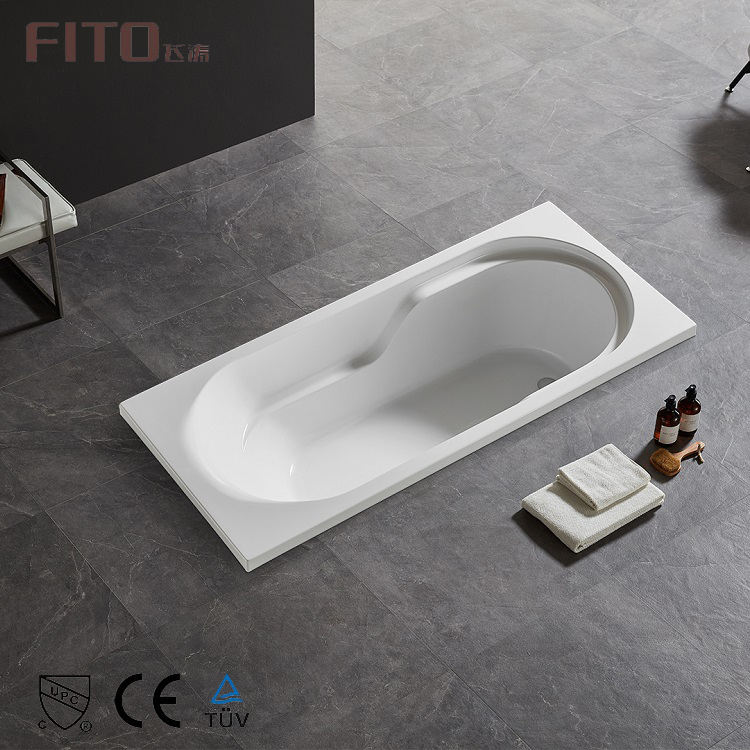 Chinese Acrylic Standard Size Bath Tub Low Price Bathroom Drop In Bathtub