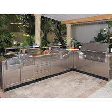 2020 Hangzhou Vermont Modular Stainless Steel Outdoor Kitchen With BBQ Island