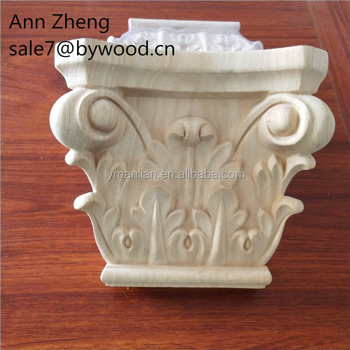 Hand Carving timber corbels decorative post Wood Capitals