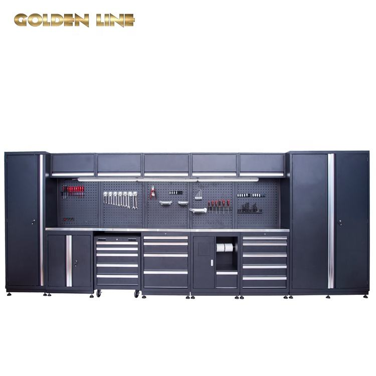 Hot new products industrial metal tool cabinet with tools work bench