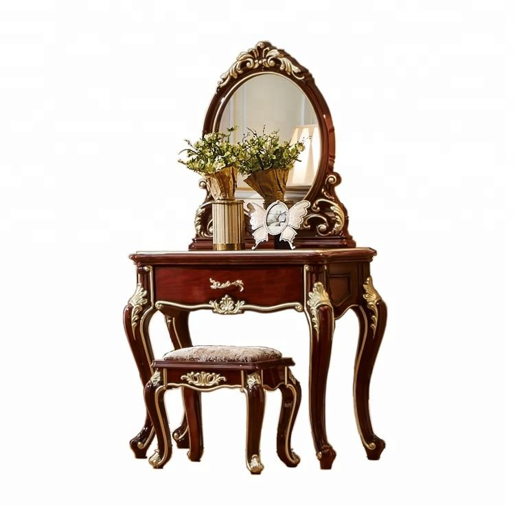 Factory Price Customized White Design Dressing Table With Stool