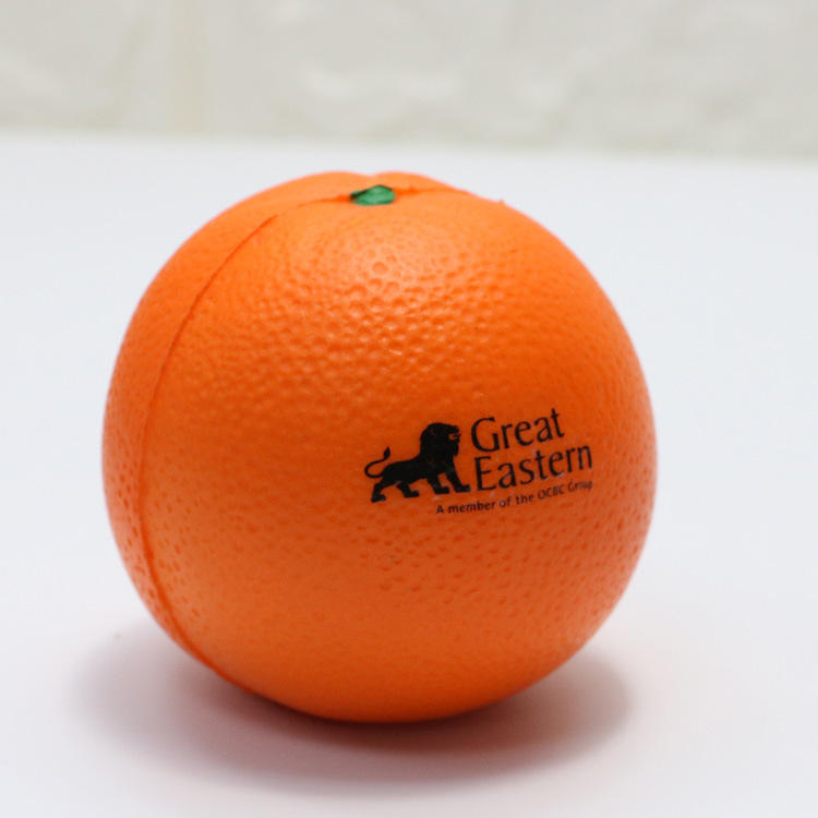 Hot selling Various Fruit Shaped Stress Ball Orange Shape Stress Balls