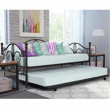 Best Selling Metal indoor Daybed with Trundle twin size bed