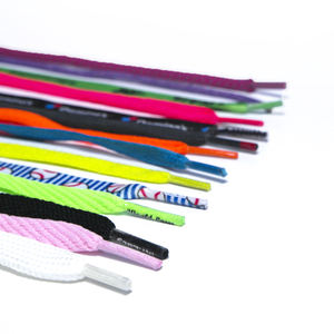 Factory Multicolor Flat Shoe Lace Bulk Wholesale Shoelace For Sale