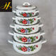 factory supply enaml pot set kitchen cookware porcelain clad casserole
