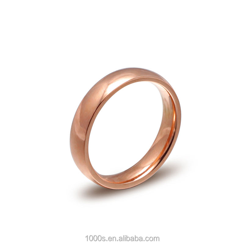 Free Sample Dropshipping Rose Gold Color Stainless Steel Blank Ring for Men Wholesale