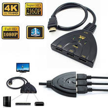 4K *2K 3 Port HDMI Splitter sp1080P 3D Switcher 3x1 Auto Switch 3-In 1-Out Pigtail Converter 1 in 3 out pigtail Cable