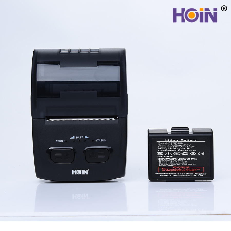 mini wireless BT pos receipt printer portable 58mm thermal receipt printer used for logistics