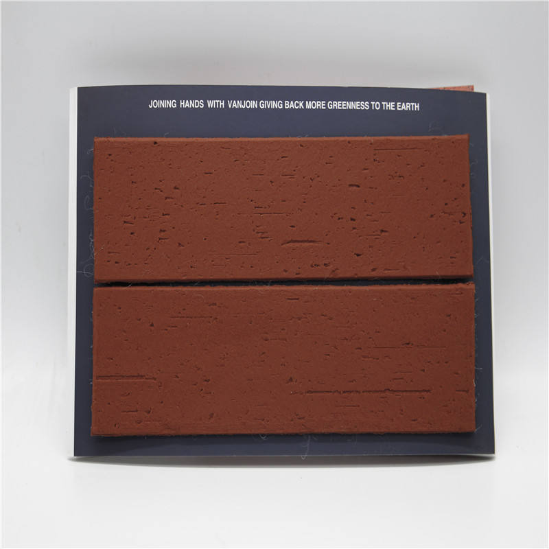 Thin Wall Cladding Flexible Brick Tile Red Black Wall Tiles