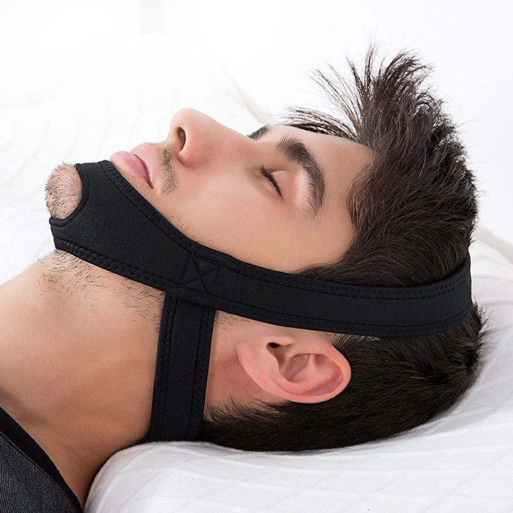 Stop Snore Chin Strap, Adjustable Anti Snore Device Snoring Solution