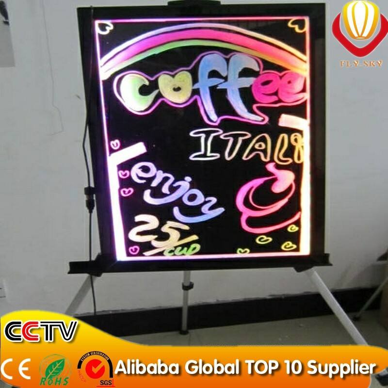 China direct factory advertising product Aluminum Frame poster advertising LED writing board
