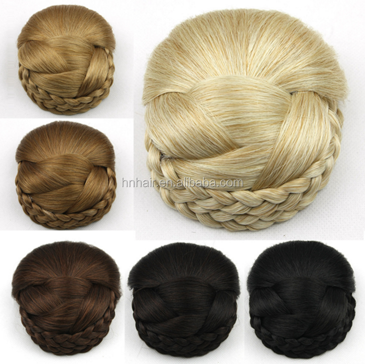 Synthetic hair padding for bun, hai rpieces for bun/hair accessories /hair bun piecs chignon hair