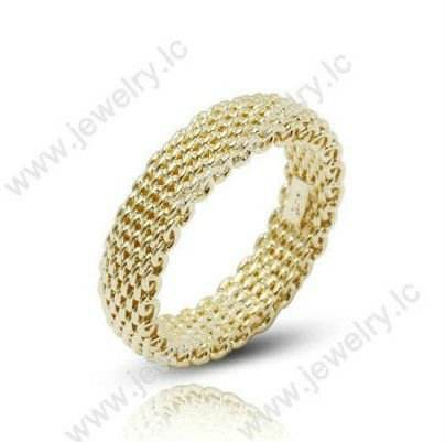 Gold Planting Silver Forever Love Tat Wedding Ring
