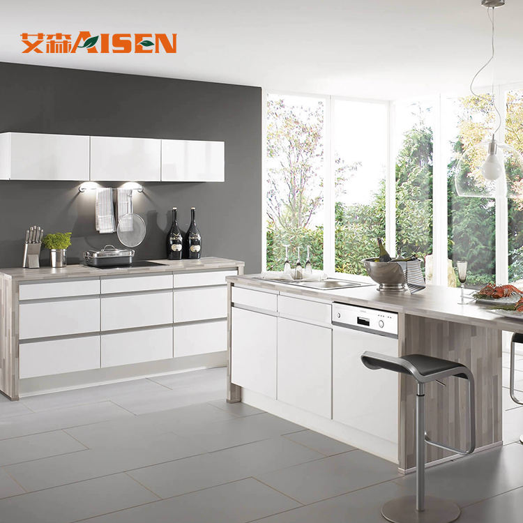 Factory Direct Cucine Cheap Modern Lacuqer Kitchen Cabinets